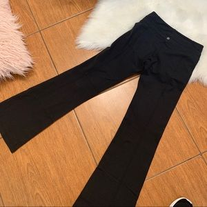 Lululemon black pants size 4 wide leg leggings